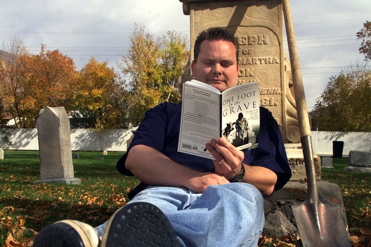 Chad Daybell wrote a book about strange and funny stories about being a sexton at the Springville Cemetery.