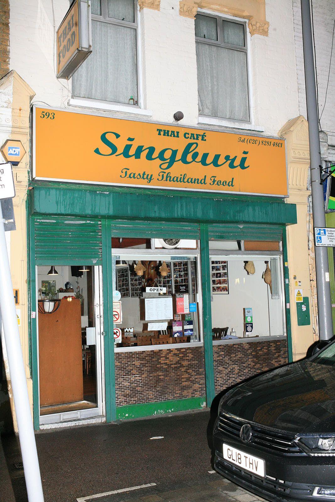 Singburi —London's great Thai restaurant — in Leytonstone. One of the best restaurants in the city
