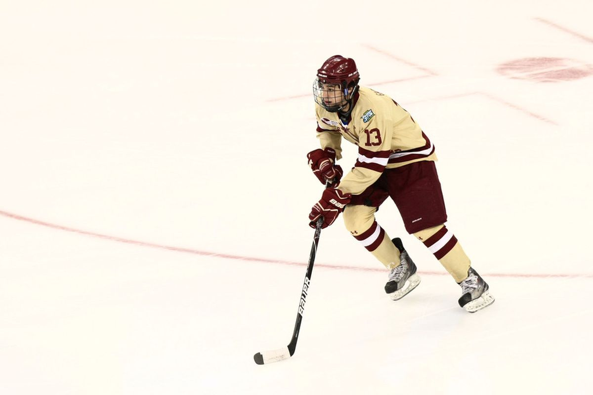 Boston College's Johnny Gaudreau is one of college hockey's most exciting players