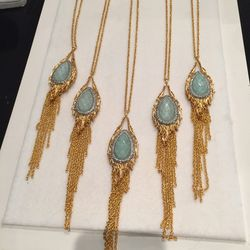 Long gold chain necklace, $95