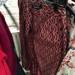Silk pants, $125