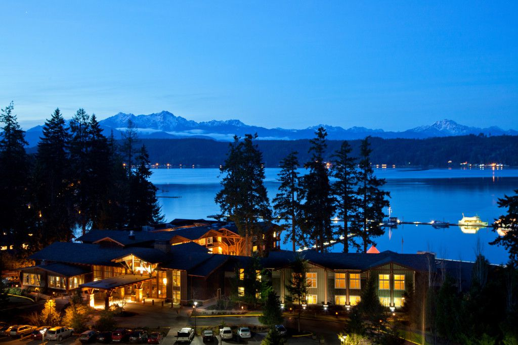 The views extend over of Hood Canal from Alderbrook Resort and Spa.