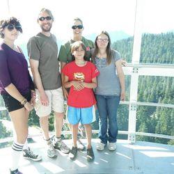Devon Adelman (far right) with her family