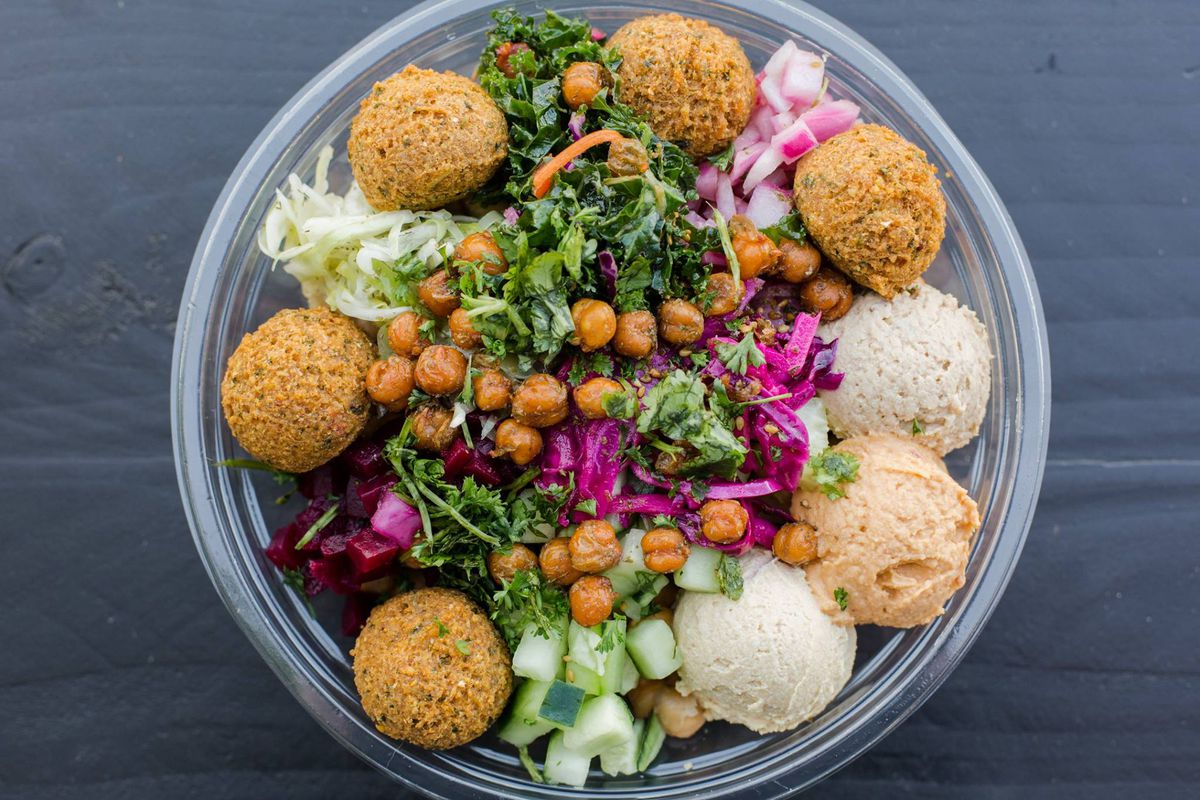 A bowl from Hummus Republic