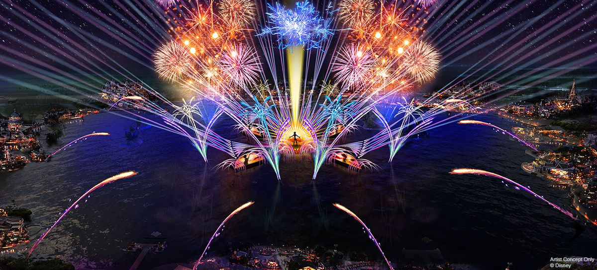 fireworks mockups for Epcot