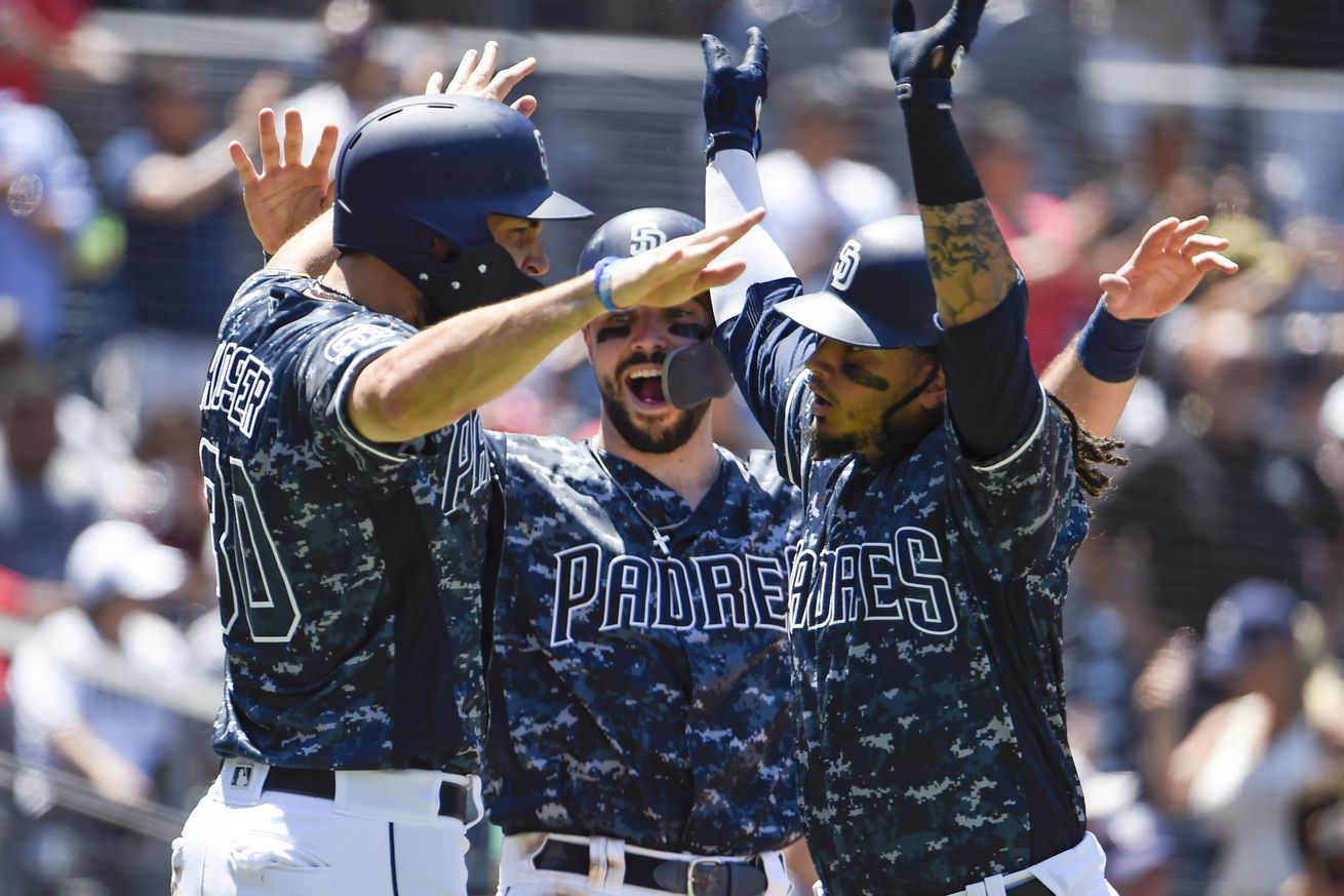 The Padres had many reasons to celebrate on Sunday