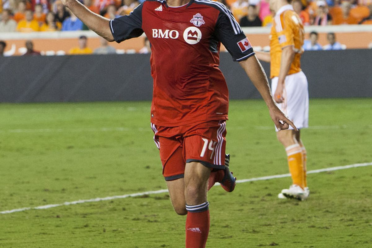 One would have to think Toronto FC might be having just a little bit better of a season if this guy was healthy. Danny Koevermans. (Photo by Bob Levey/Getty Images)