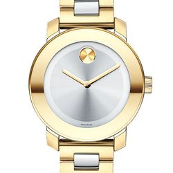 "Movado Bold round bracelet watch, $595 at <a href=""http://shop.nordstrom.com/S/movado-bold-round-bracelet-watch-36mm/3350391"">Nordstrom</a>."