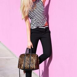 """Shea of <a href=""""http://peaceloveshea.com""""target=""""_blank"""">Peace Love Shea</a> is wearing an A.L.C. <a href=""""http://www.intermixonline.com/product/a.l.c.+striped+open+back+sleeveless+tank.do?sortby=ourPicks&CurrentCat=102086&utm_source=4441350&utm_campaign"""