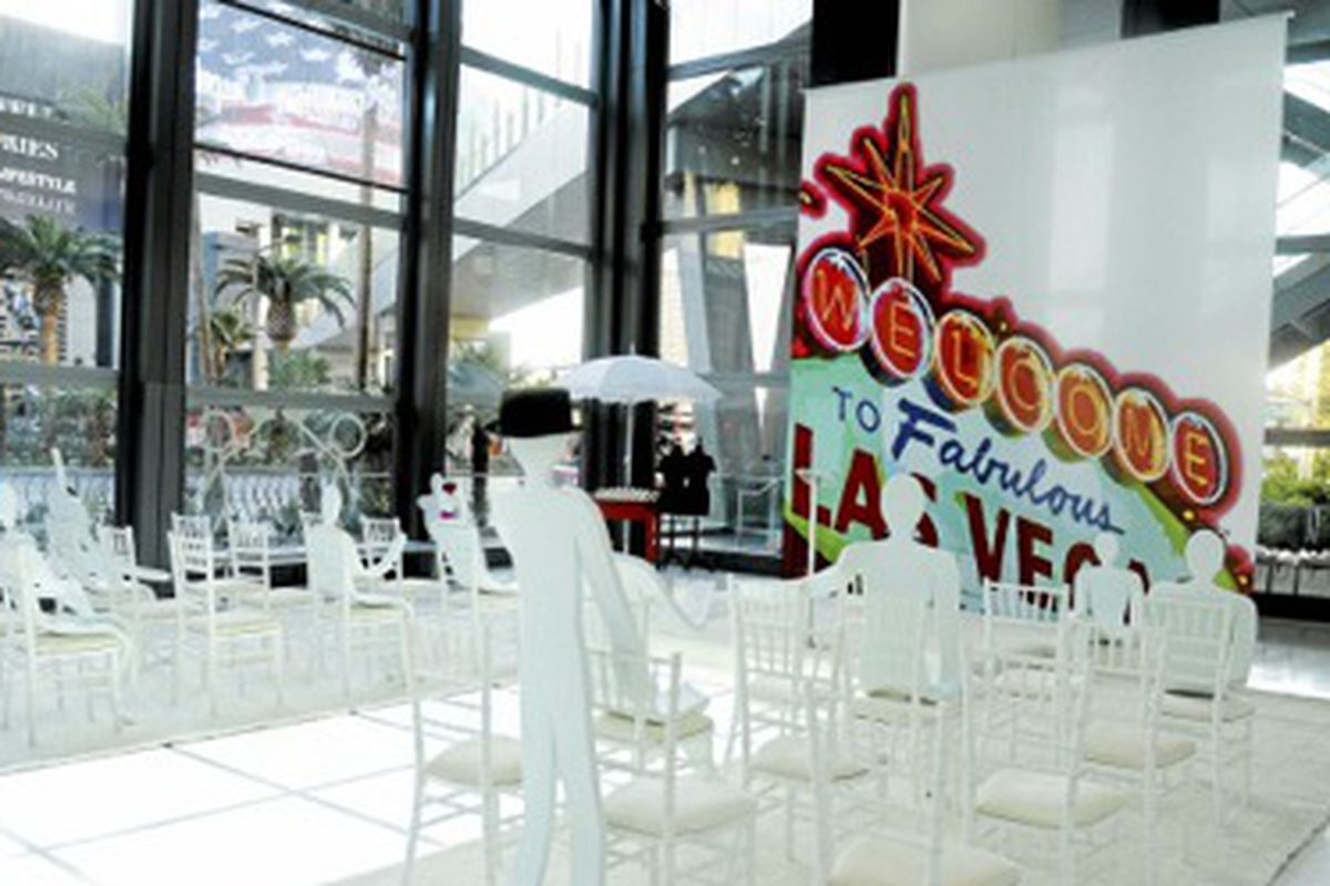 The former popup wedding space at the Cosmopolitan of Las Vegas changes over to a EA Sports Bar.