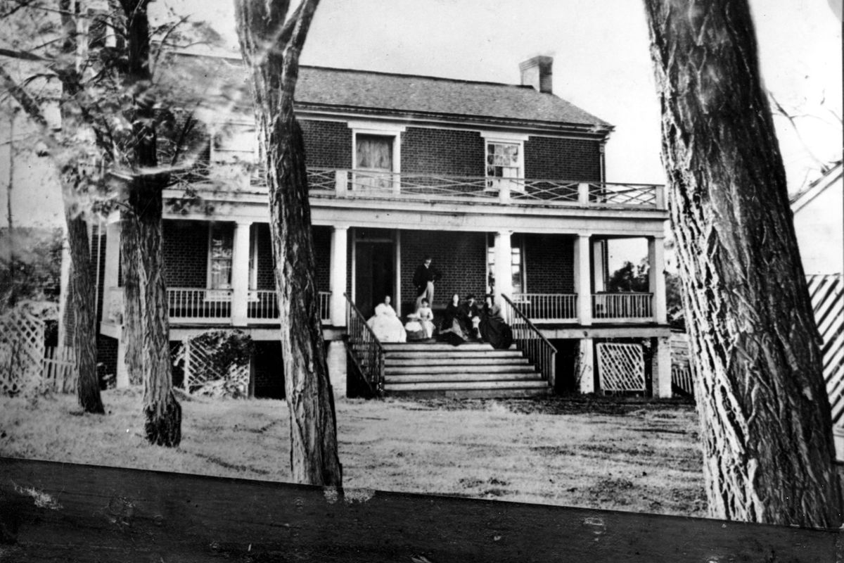 This is an undated photo of the American Civil War Confederate surrender house at Appomattox Court House, Va. It was at the home of Wilmer McLean that Gen. Robert E. Lee surrendered the Army of Northern Virginia to Gen. Ulysses S. Grant on April 9, 1865.