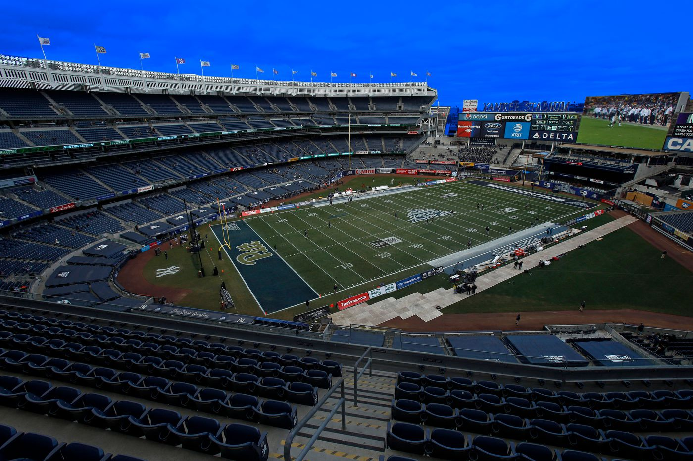 How A Football Bowl Game Fits In A Baseball Stadium Banner Society