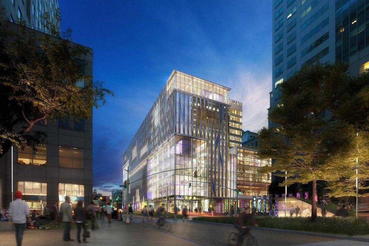 """This artist's rendering by dbox provided by New York University shows the proposed """"Center for Urban Science and Progress"""" campus that New York University plans to install in a city-owned building. The new campus will be focused on the research and develo"""