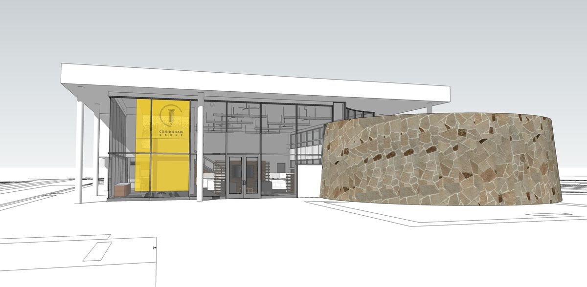 Sketches of the new Cuningham Group office in Phoenix