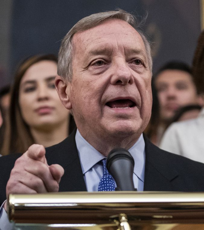 """U.S. Sen. Dick Durbin: """"If you remove the personnel that have a professional responsibility when it comes to inspections and enforcements, fewer are going to be done."""""""