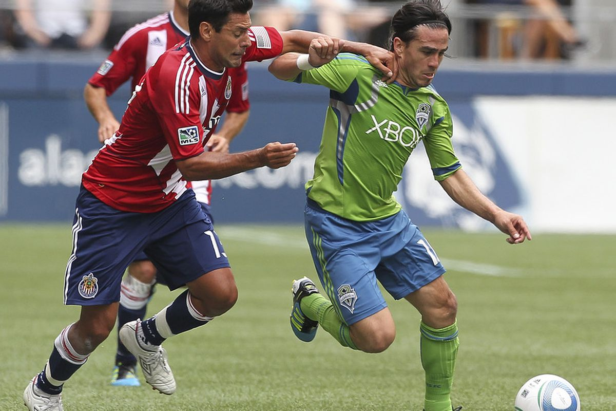 SEATTLE - AUGUST 13:  Can Chivas get a victory Saturday over the Sounders? (Photo by Otto Greule Jr/Getty Images)