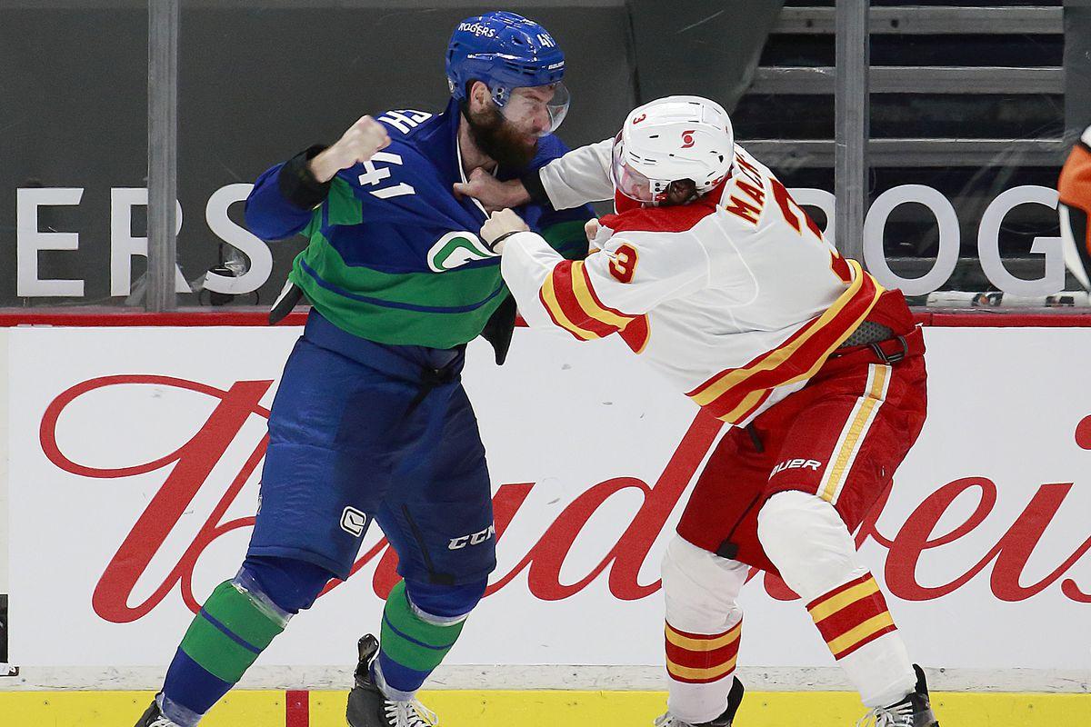 Calgaryt Flames v Vancouver Canucks
