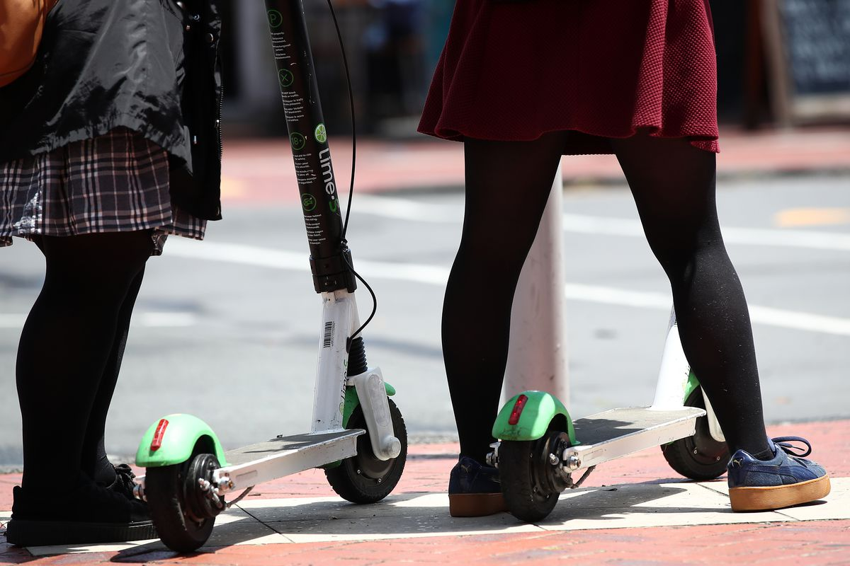 Lime scooters.