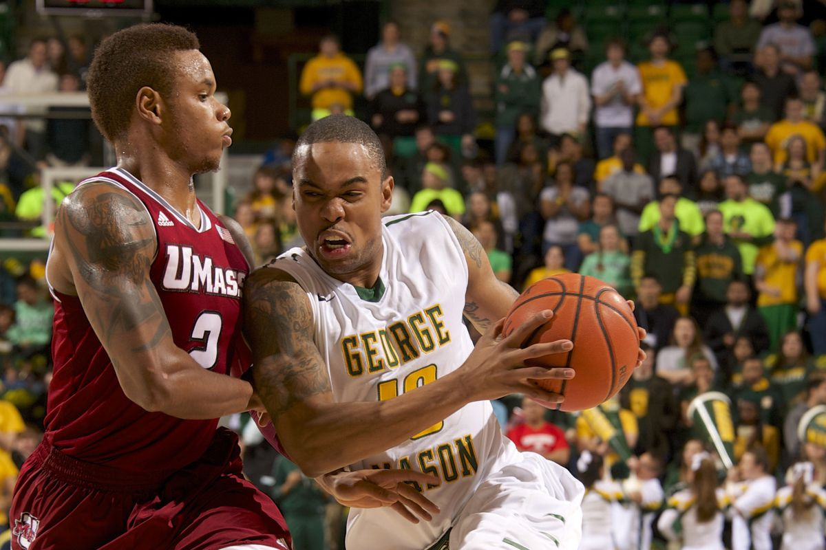 Image result for George Mason Patriots vs UMass Minutemen basketball