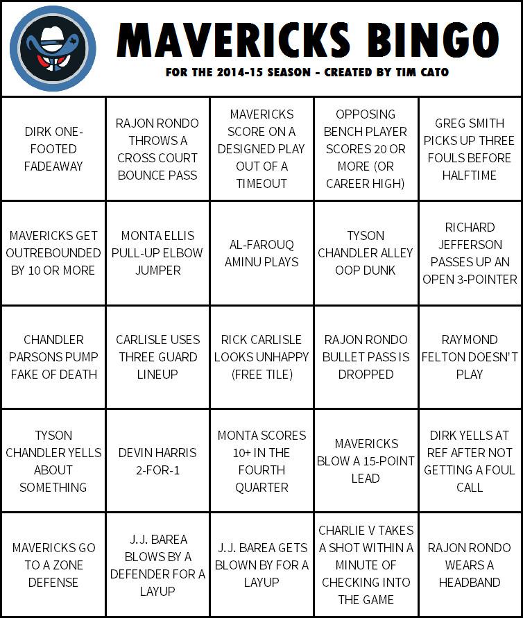 MavericksBingo