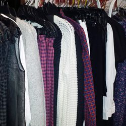 Lots of autumn-ready sweaters, cardigans, plaid bottoms, and more from Tess Giberson for 30% off. More brands include Shaina Mote, Sea, Carven.