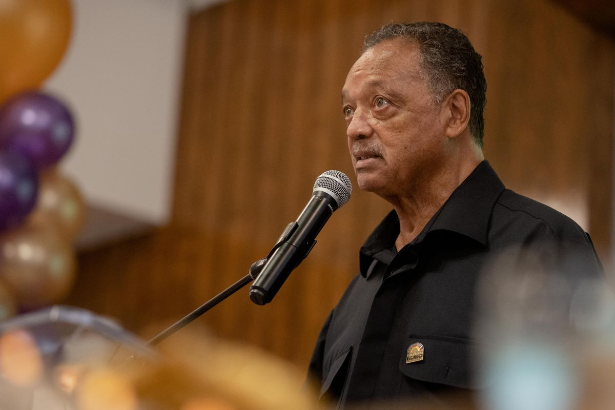 Rev. Jesse Jackson reflected on his lifelong fight for civil rights as he turned 80 on Friday.Rev. Jesse Jackson speaks during his 80th birthday celebration at the Rainbow PUSH Coalition headquarters in the Kenwood neighborhood, where he brought attention to the effectiveness of the COVID-19 vaccine, women's rights and other social justice issues, Friday afternoon, October 8, 2021.   Pat Nabong/Sun-Times