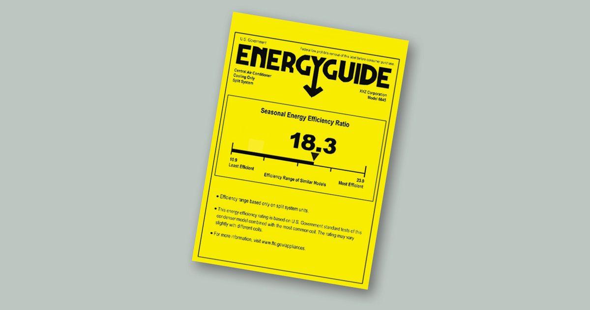 Energy Guide Sticker