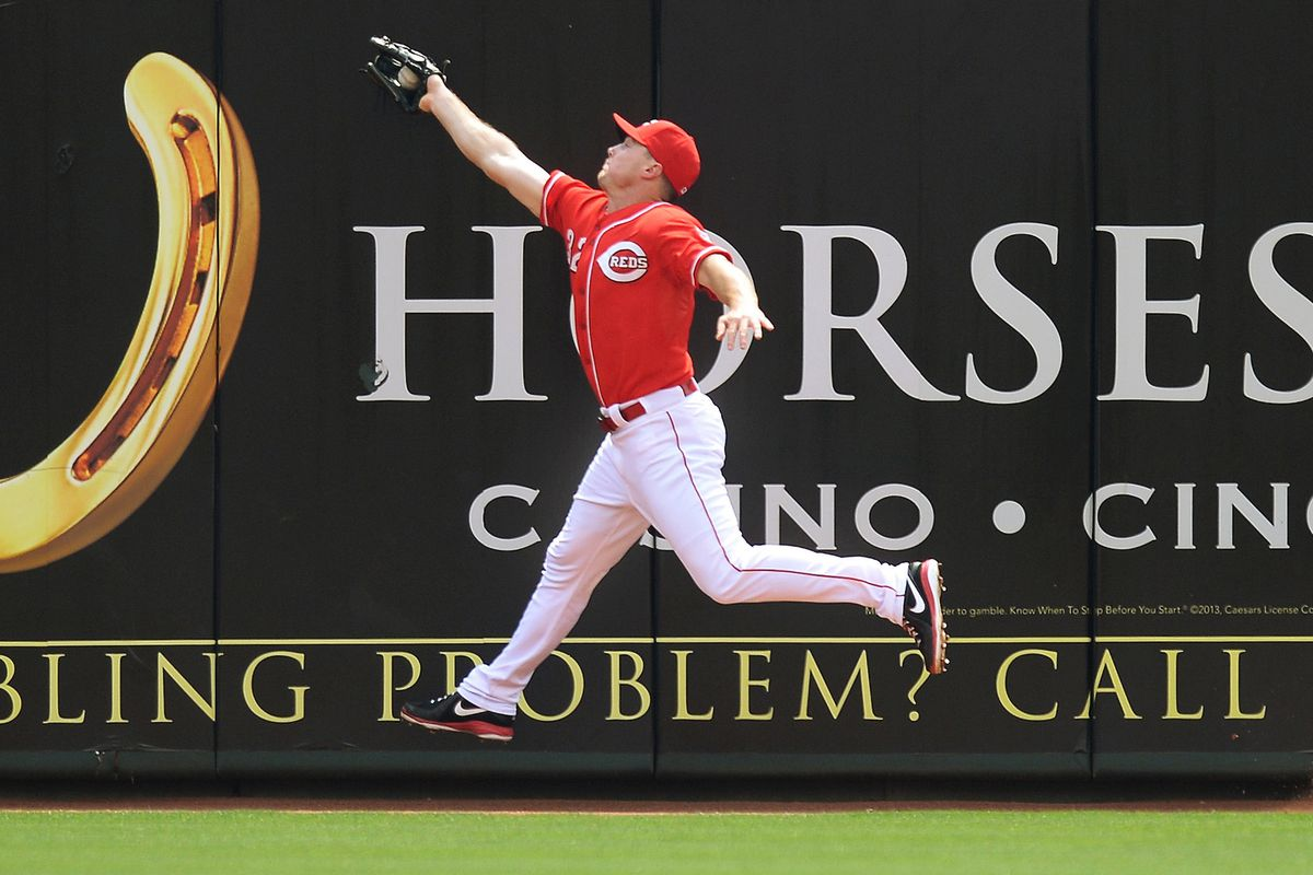 Last year, Jay Bruce recorded outs on nearly 97% of balls hit into the right field zone, tops in MLB. Could he be joined soon by other right fielders with RZR above .950?