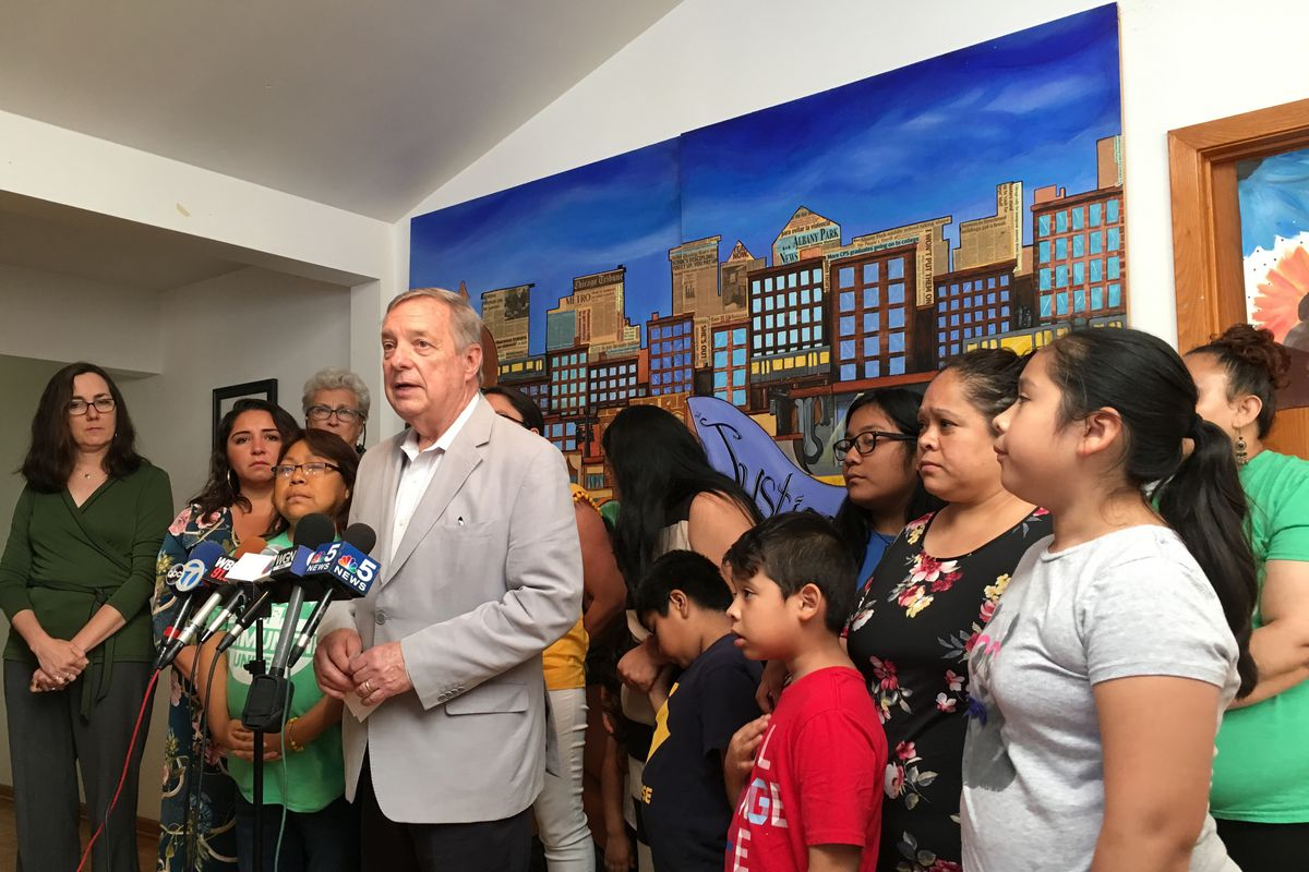 Durbin: expected raids spikes fear, 'in the Hispanic , I've never seen at a higher level.'
