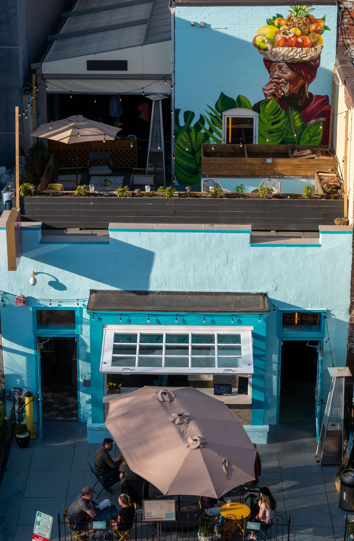 Colada Shop has a new mural on its rooftop bar