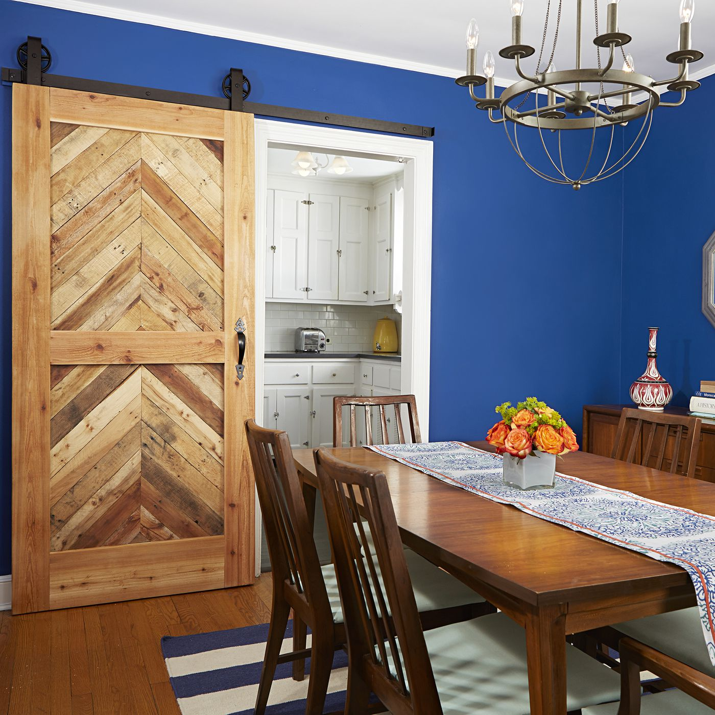 How to Build a Sliding Barn Door - This Old House Interior Design Red Bathroom Barn on red wallpaper bathrooms, red tile bathrooms, white design bathrooms,