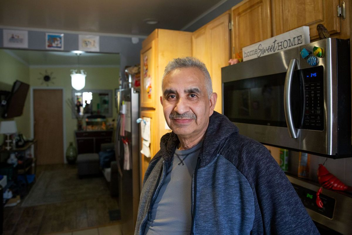 Carlos Hernandez's family has owned a Second Avenue building near 110th Street since 1981. Hernandez was recently diagnosed with throat cancer and is trying to sell his home before he is forced out by the city, March 27, 2019.