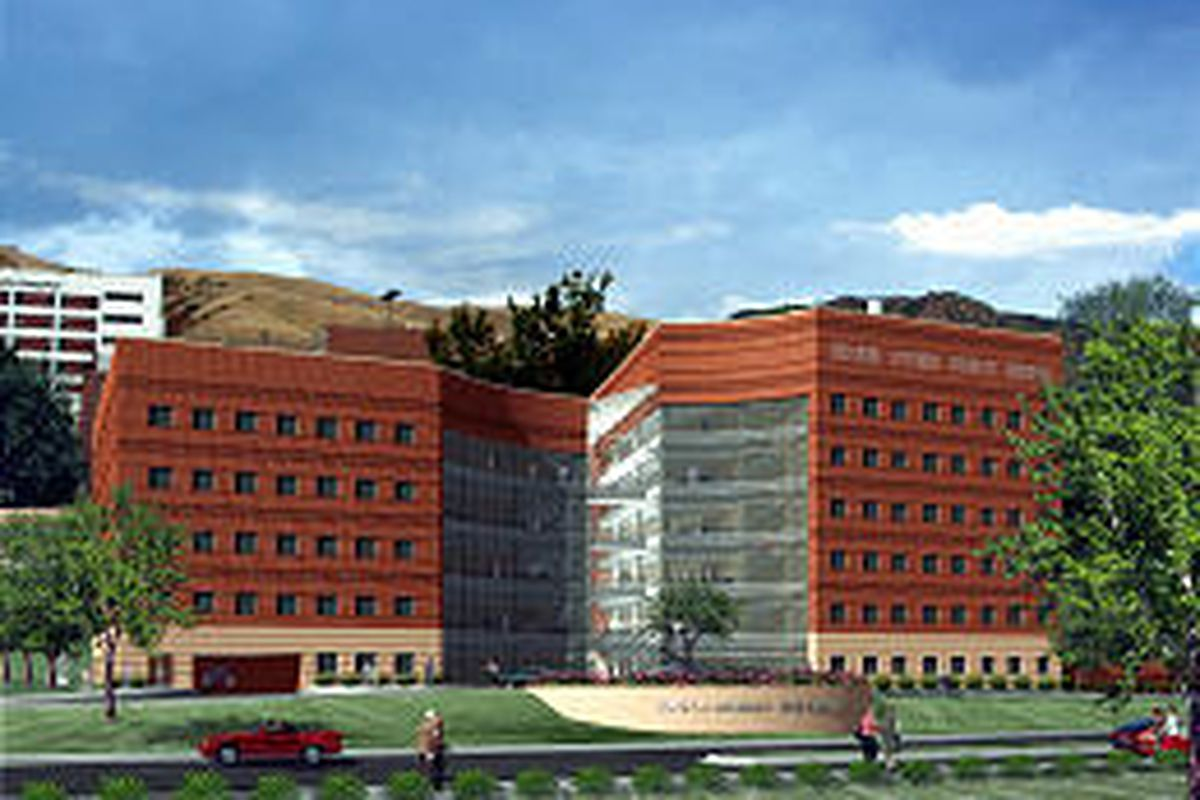 Preliminary plans call for a 200,000-square-foot, mostly glass-enclosed Moran Eye Center.