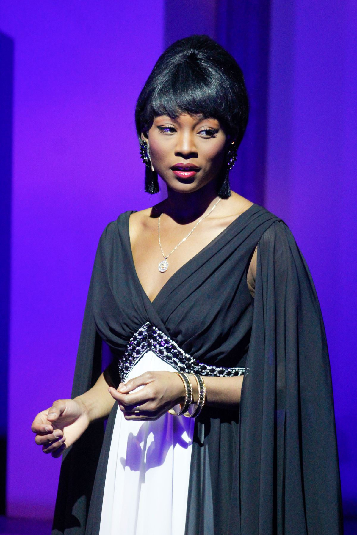 """Jayla Craig stars as Young Nancy in Black Ensemble Theater's """"Style and Grace: In Tribute to Lena Horne and Nancy Wilson,"""" directed and written by Kylah Frye."""