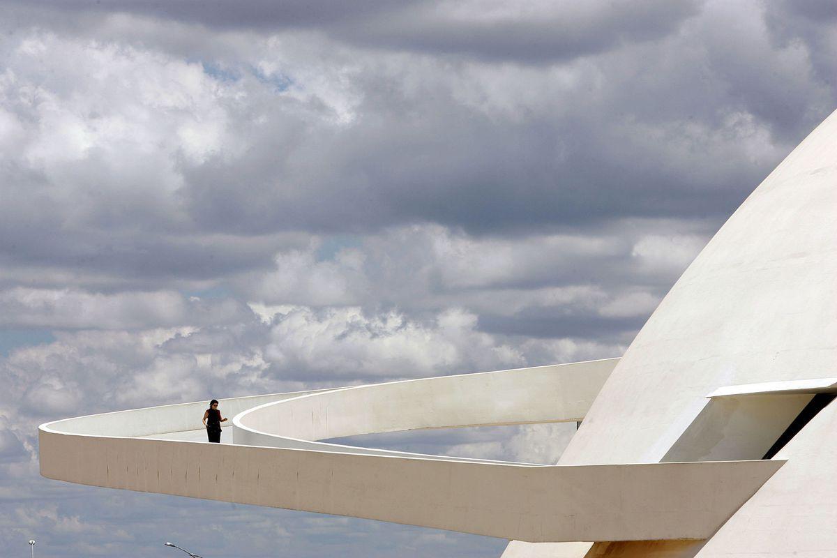 The ramp of Brasilia's National Museum, work of Brazilian architect Oscar Niemeyer