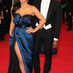 Kim Kardashian and Kanye West, both in Lanvin
