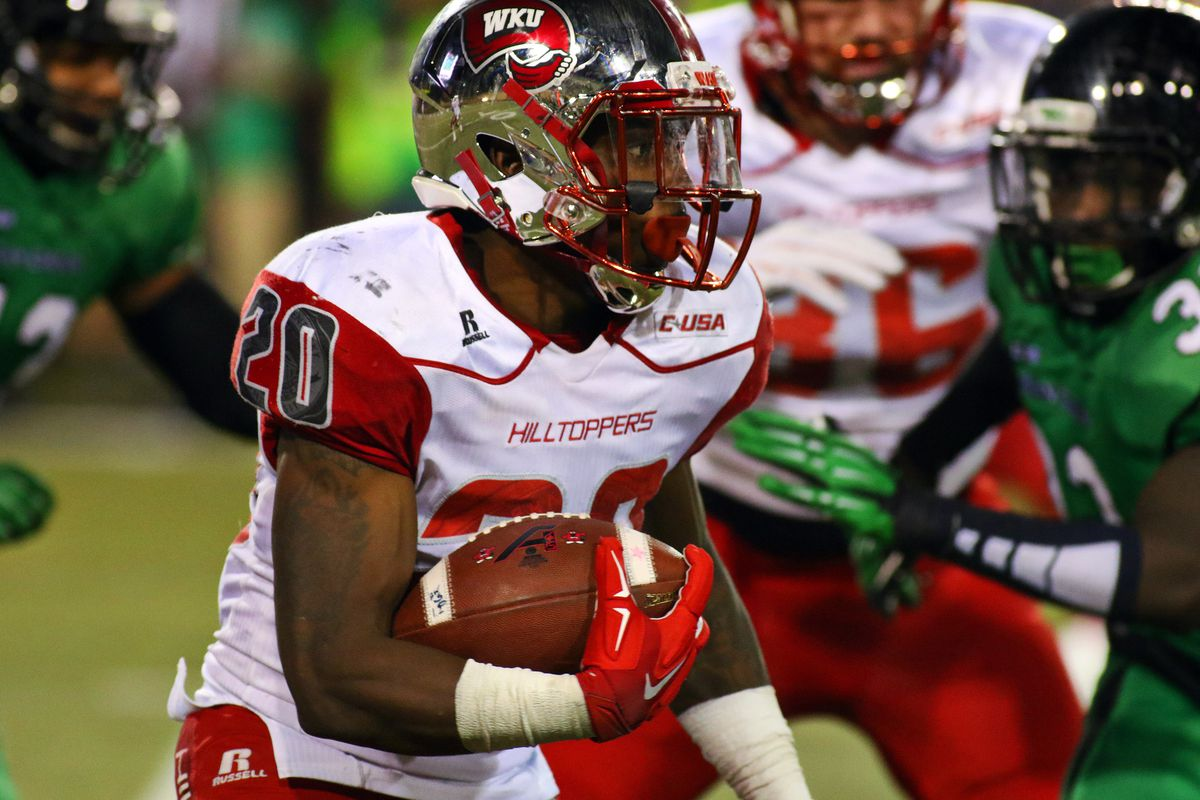 Ace Wales stole the offensive show for WKU, rushing for 193 yards and two touchdowns in the Hilltoppers 55-28 win over North Texas.