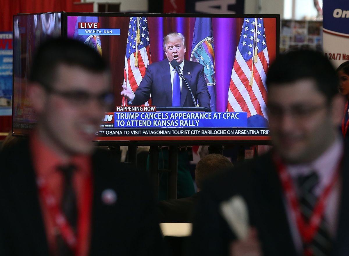 Donald Trump skipped this year's CPAC conference. (Photo by Mark Wilson/Getty Images)