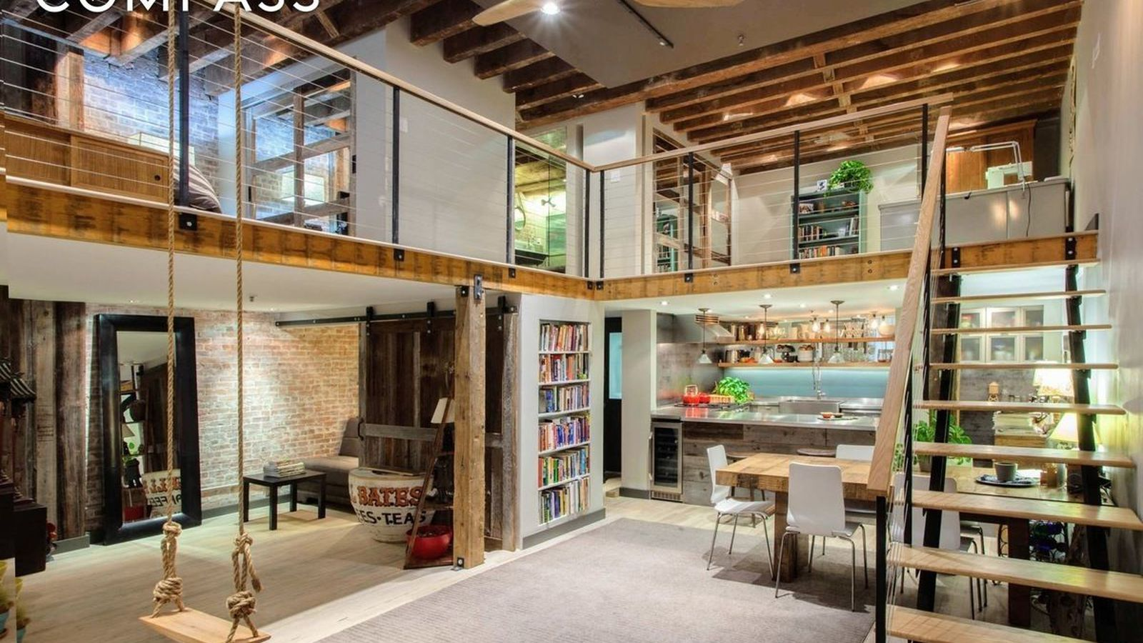 renovated tribeca loft with rustic touches wants
