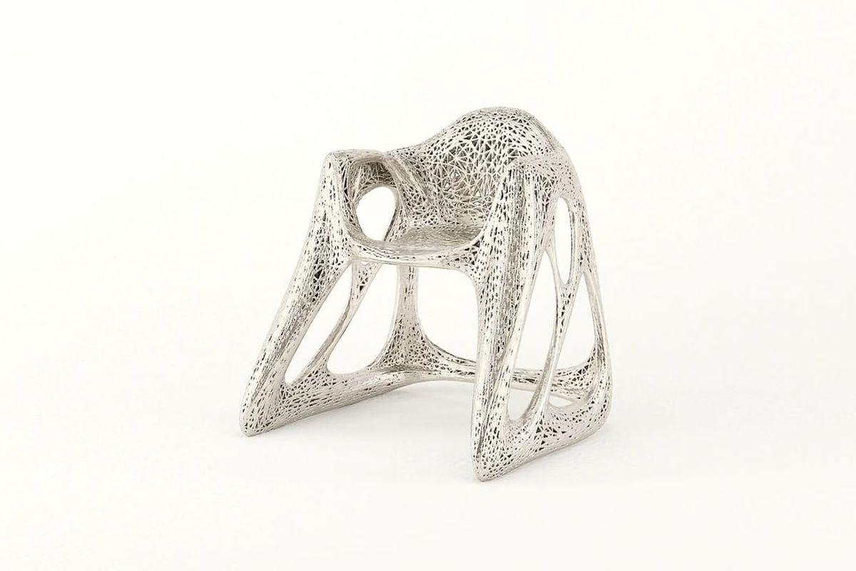 3D-printed metal chairs