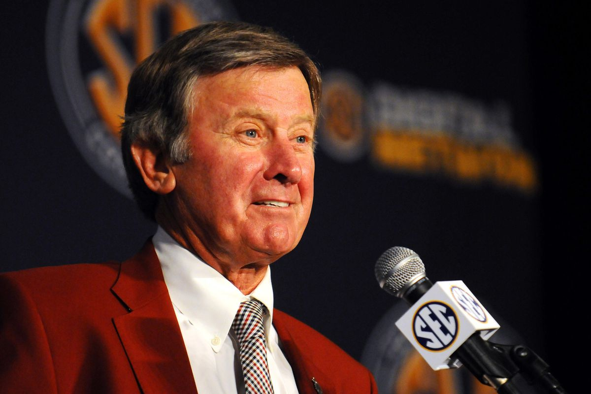 At least once he starts coaching games, Spurrier can't wear this red blazer anymore.