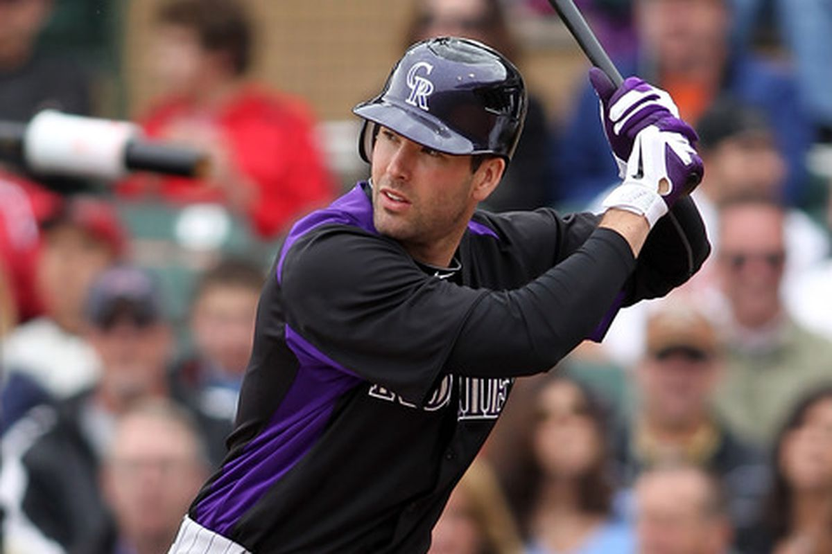 Seth Smith of the Colorado Rockies (Photo by Jonathan Ferrey/Getty Images)