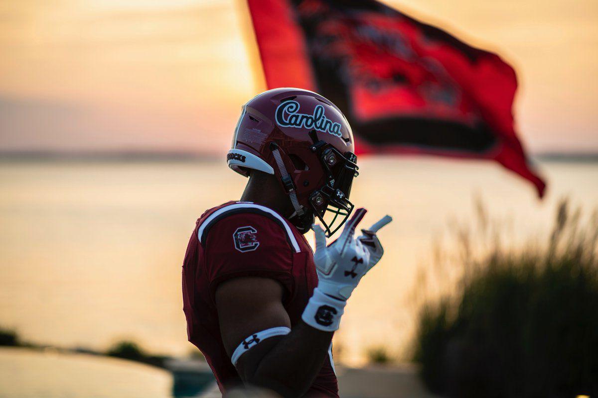 Gamecocks unveil new Carolina script helmets - Garnet And ...