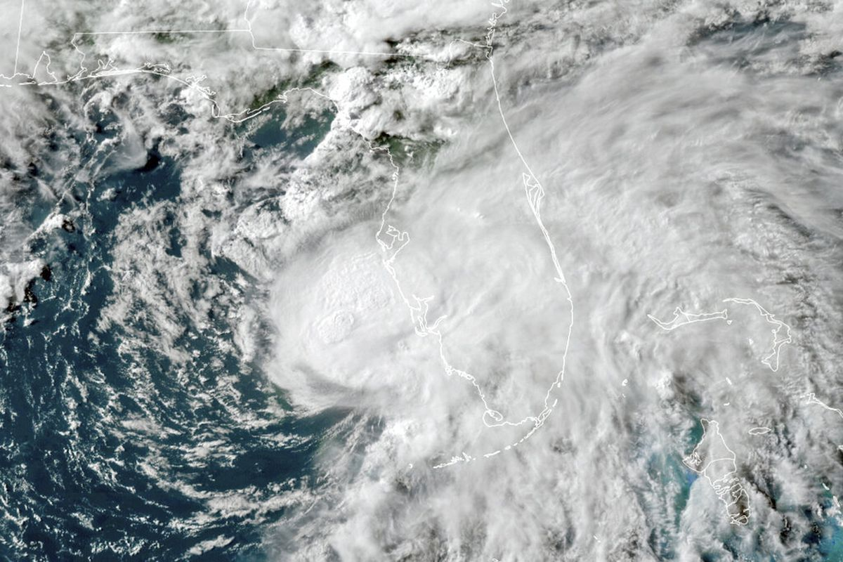 Tropical Storm Elsa in the Gulf of Mexico.