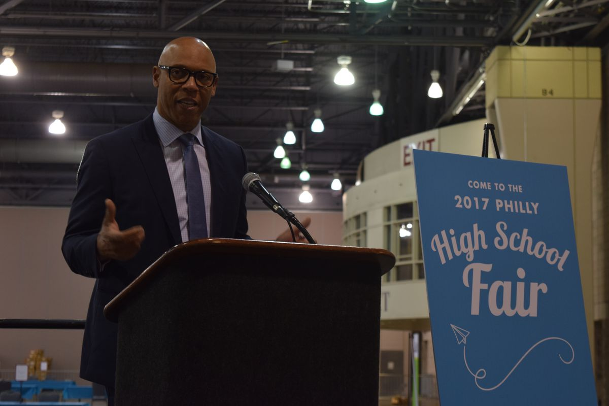 William Hite at the 2017 Philly High School Fair.