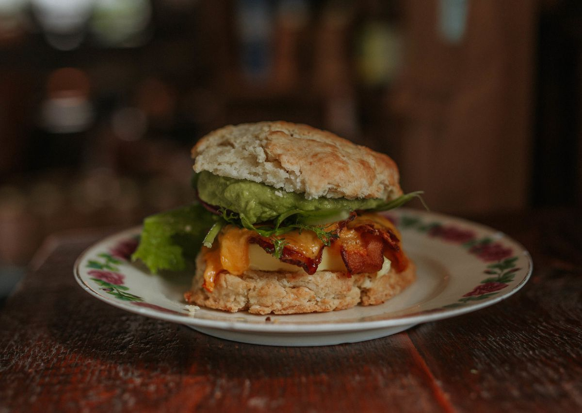 A biscuit sandwich from Stomping Ground
