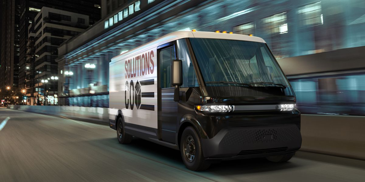 Image of article 'GM unveils electric delivery van with 250 miles of range as part of new spinoff business'
