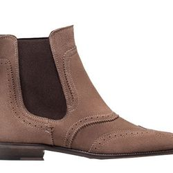 """Cognac: <b>Massimo Dutti</b> boot, <a href=""""http://www.massimodutti.com/us/en/women/shoes/ankle-boots/suede-stretch-ankle-boot-c1009231p4526010.html?colorId=131"""">$250</a>"""