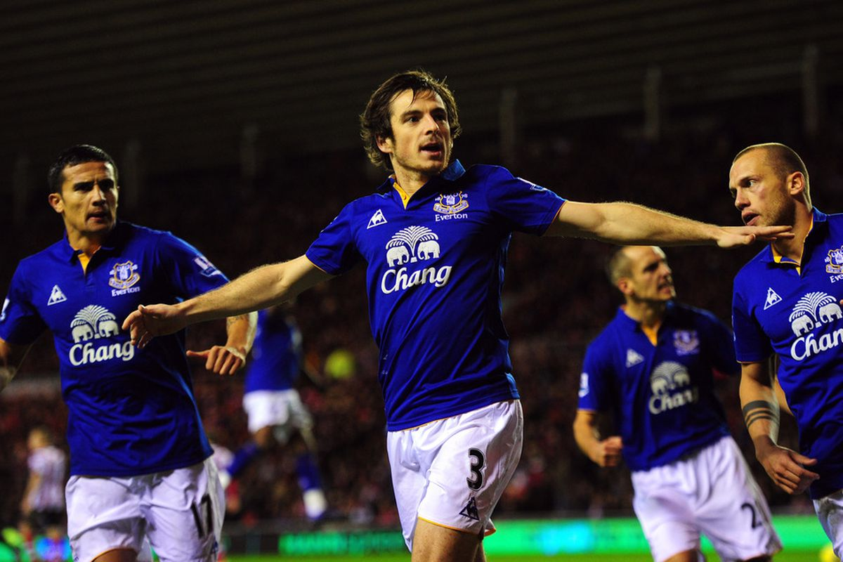 """""""Thank you for flying Leighton Baines Airlines. You have reached you destination: the back of the net."""""""