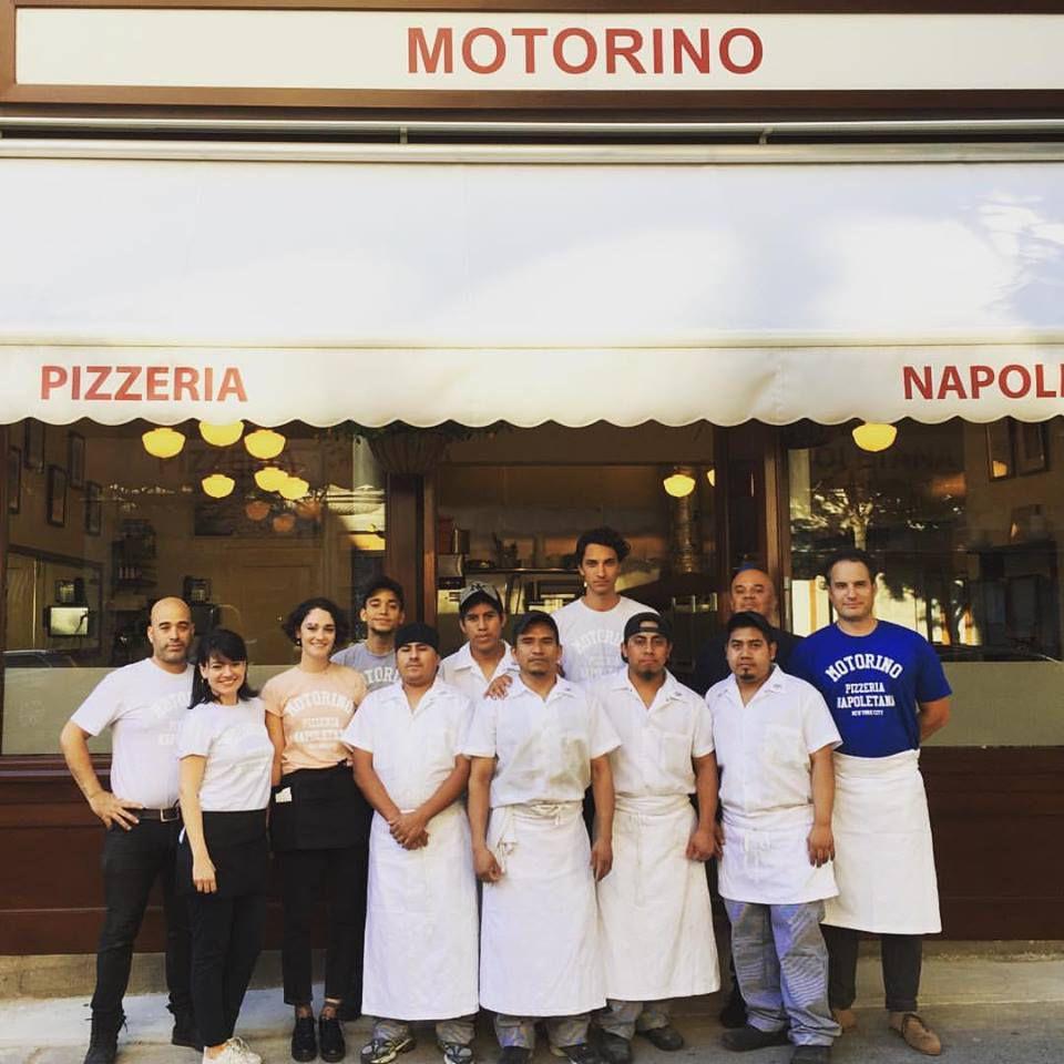 Staff photo of the motorino team